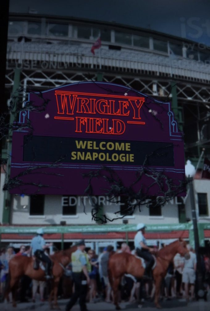 Lens Stranger Things Wrigley Field Snapchat Marker Tech